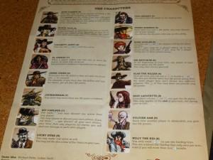 Petite vue des 16 personnages proposés avec le jeu...