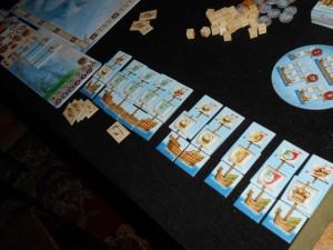 Et enfin mes bateaux terminés, pour un total de 10 mâts et pas mal de denrées aussi, en complément.