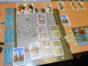 La zone de Vincent au même moment, avec 3 de prestige et 15 d'argent, donc 45 points de victoire...