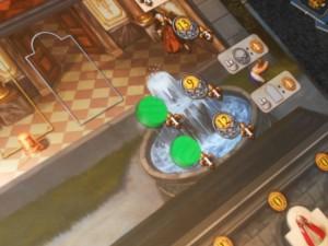 En revanche, grâce à la fontaine, je me gave de £ : j'en collecte 10 par tour contre seulement 5 pour Tristan...