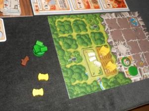 Voici mes éléments de jeu en fin de troisième manche, après la récolte.