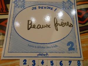 """Joli Tristan ! Oui, ne connaissant pas le bon terme, il écrit """"Beaux-frères"""", mais c'est plutôt bien joué..."""