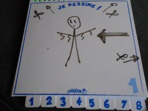 Voici donc mon dessin initial, OK c'est pas tip top, mais je ne suis pas le roi des dessinateurs des oiseaux qui ont peur... :-)