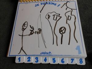Je ne sais pas bien ce que vous auriez compris, vous, au dessin de mon fils ci-dessus...