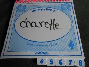 "Bouhhhh.... Non, pour Pauline, mon dessin représente une ""Charrette"" !"