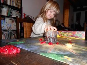 Cette phase d'éruption volcanique est toujours le grand moment du jeu...