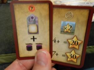 Oui, j'aime assez mon choix de cartes... D'abord, l'usine supplémentaire + 2 progressions de mon marqueur violet, ensuite, en fin de partie, 20 ou 30PV en fonction du nombre de X2 que j'aurai. Ca me paraît pas mal. Enfin, à ce moment-là...
