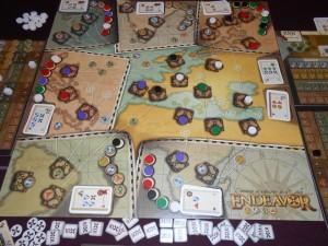 Fin de manche et Yohel devient le roi de l'Europe : 4 villes pour lui contre 2 pour Béatrice, Fabrice et moi...