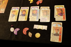 Les éléments de Tristan une fois la partie terminée, avec 6 personnages et 6 maisons, une statue de valeur 7 et une majorité pour 4PV...