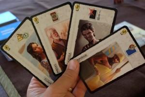 Voici ma main de leaders pour cette partie, avec notamment Caligula que j'ai bien envie de faire entrer en jeu pour placer gratuitement des cartes noires...