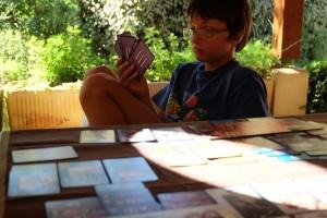 Séance, je choisis ma carte à jouer... Ce n'est pas toujours facile :-)