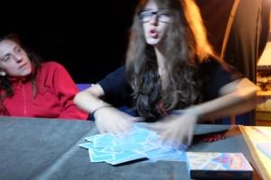 Séance mélange de cartes...