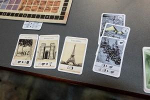 Et mes trois merveilles, dont les deux premières déjà évoquées, avec cette Tour Eiffel finalement inutile... Comme quoi, être premier au dernier tour est quand même pas mal pour acheter les merveilles qu'on souhaite...