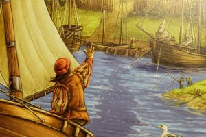 Oui, c'est bel et bien le même homme qui prend la mer en faisant un signe d'adieu à sa femme sur le quai !