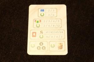 Petit arrêt sur images sur le décompte final : en plus des PV acquis pendant la partie, on marque pour les légendes réussies (2 ou 3 carte pour les familles, de 2 à 5 pour les niveaux), les cartes avec sabliers présentes dans l'elisyum et les jetons de bonus liées aux légendes. A noter qu'on perd 2PV par citoyen présent dans l'elysium. Qu'est-ce qu'un citoyen ? Lors de la prise de cartes de familles, si on ne peut pas à cause des couleurs de colonnes nous restant, on prend un citoyen, qui comporte quand même l'avantage de remplacer n'importe quelle carte (joker). Mais c'est pénalisant quand même...