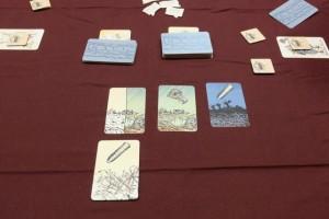 Notre première mission, ce soir, d'ampleur 2 (deux cartes piochées chacun) est couronnée de succès ! Mais bon, il nous reste quelques cartes en main...