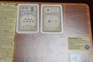 Voici mes deux premières cartes retenues : celle de gauche pour les 7PV non négligeables, celle de droite pour la facilité à la construire car il faut aussi aller vite et pas toujours faire en fonction de la qualité d'une carte.