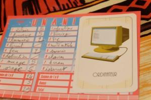 Ensuite, on a à faire à cette carte représentant un ordinateur. Sur la gauche, vous pouvez voir que j'ai été plutôt bon avec mes propositions sur la foudre...