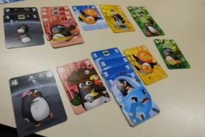 En-dessous de mes cartes, vous pouvez constater que je vais surtout scorer dans les cartes bleues mais que, même pas premier dans les autres couleurs, je vais marquer par exemple 6 PV dans les jaunes...