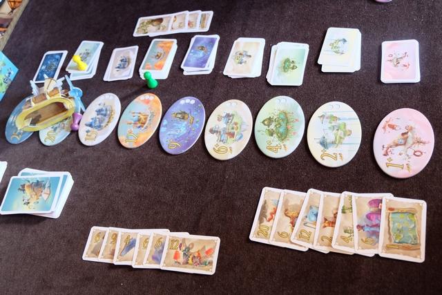 Voici donc la situation finale, avec les trésors étalés sur la table. Je n'étais pas si loin finalement...