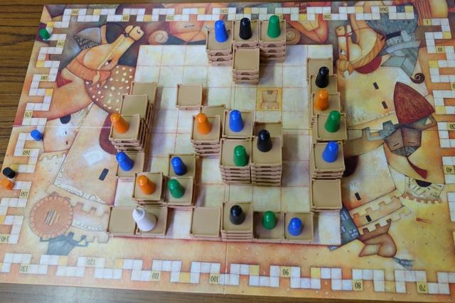 Et voici la fin de la troisième année avec le troisième décompte qui a renforcé encore mon avance même si Tristan est le seul à avoir réussi à se placer au niveau 3 dans le château du roi...