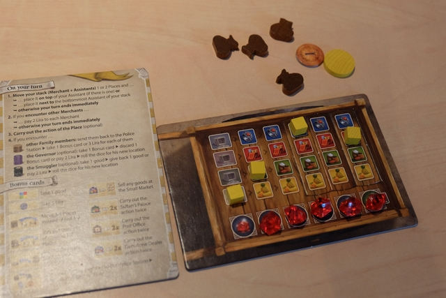 Les éléments de Tristan, lui aussi à 5 pierres et à un coup de la victoire (il a les éléments pour faire le même échange qu'Alendar à la taverne)... Frustrant !