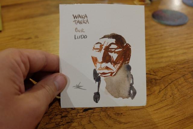 L'illustrateur, David Cochard, faisait de splendides dédicaces lors du Festival des Jeux de Cannes. Voici la mienne...