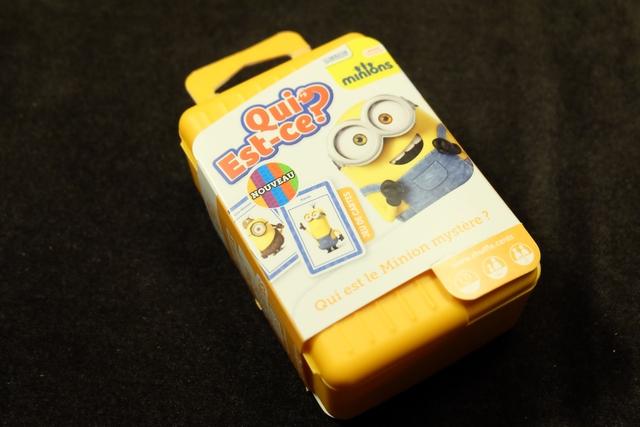 Le packaging est plutôt sympa, sous la forme d'une petite valisette,  avec des minions bien mignons tout partout...