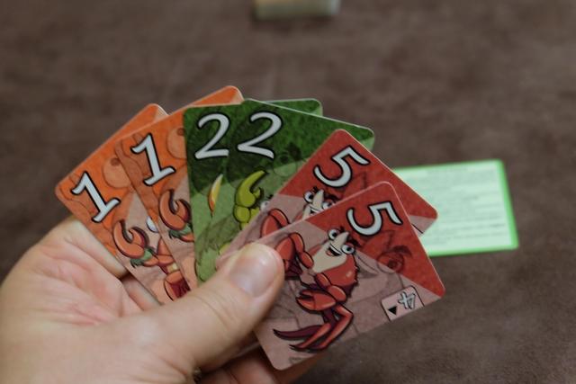 Voici ma main de cartes en début de partie.