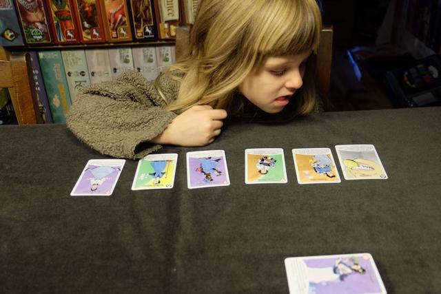 Devant soi, on a un total de 6 cartes piochées au hasard en début de partie. Ces cartes sont le plus souvent colorées d'une ou deux couleurs. Une défausse est constituée face visible (une carte au départ) et la pioche est aussi placée face visible. A son tour, on commence par ajouter à ses cartes une carte prise sur la pioche ou sur la défausse. Ensuite, on peut réaliser des actions (si on a des cartes spéciales) ou constituer un labo de recherche (4 cartes de la même couleur qu'on empile alors). On peut aussi ne rien faire. Ensuite, on doit ramener son stock à 6 cartes si besoin. Le but du jeu ? Être le premier à avoir constitué trois labos.