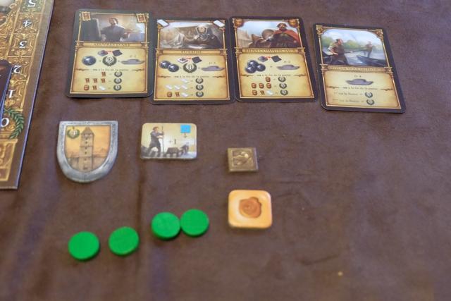 Et enfin mes éléments en fin de partie, avec un joli triplet de 12 PV et une autre carte de 6 PV (premier sur le fleuve). Mais Jean-Luc a vraiment été trop fort aujourd'hui...