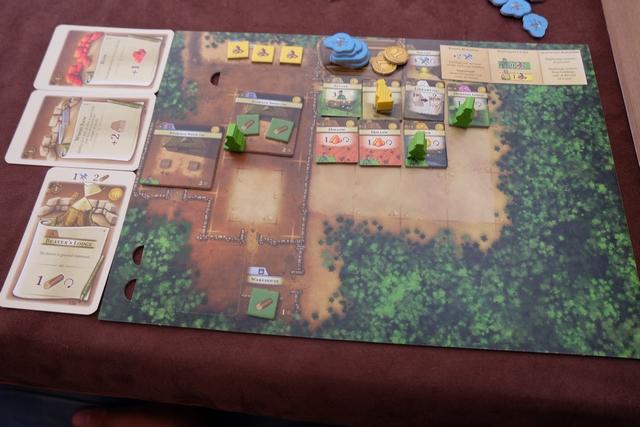 Le plateau de Tristan, avec un citadin jaune, malheureusement inemployé (pas d'usine chez lui).