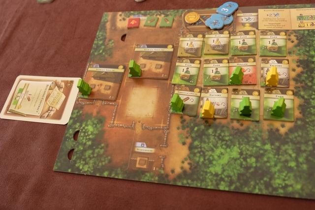 Les éléments de Maitena, laquelle a rempli avec brio son espace de bâtiments ! Avec deux citadins actifs mes amis ! Ça sent la victoire ça...