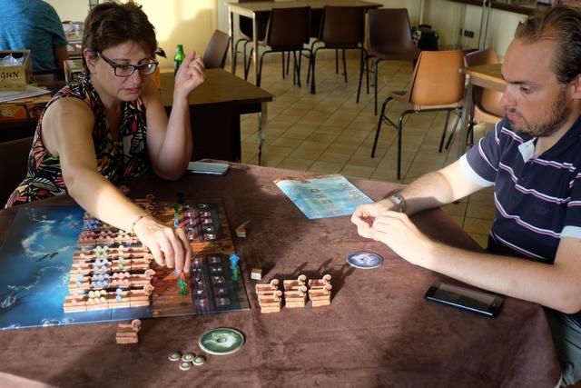 Fun et bien dynamique, le jeu me plaît bien, même si j'ai l'impression qu'il est difficile de maîtriser beaucoup de choses...