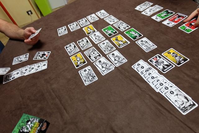 Fin de partie et on va compter nos points en retournant nos cartes glanées pendant la partie.