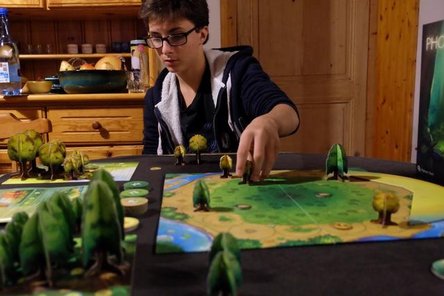 Jeu passionnant, même à deux joueurs, ce Photosynthesis nous permet de passer un très bon moment entre père et fils...