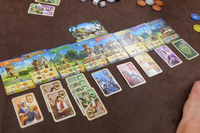 Le robuste royaume de Jean-Luc, avec 7 types de cartes amassées.
