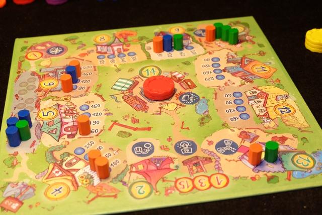 Petite vue du plateau général alors que Leila, en orange, est clairement répartie à fond...