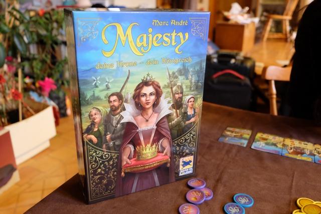 Nouvelle partie de ce bien bon jeu d'Essen 2017 : Majesty ! Il saura conquérir le cœur de Maitena et de Joris, pour le coup...