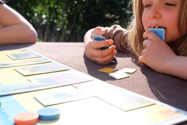 Leila souffre d'une incroyable Analysis Paralysis, probablement due aux cartes qui ne sont pas si simples à comprendre pour une enfant de 7 ans. Ce n'est peut-être pas pour rien qu'il est indiqué à partir de 10 ans sur la boîte...