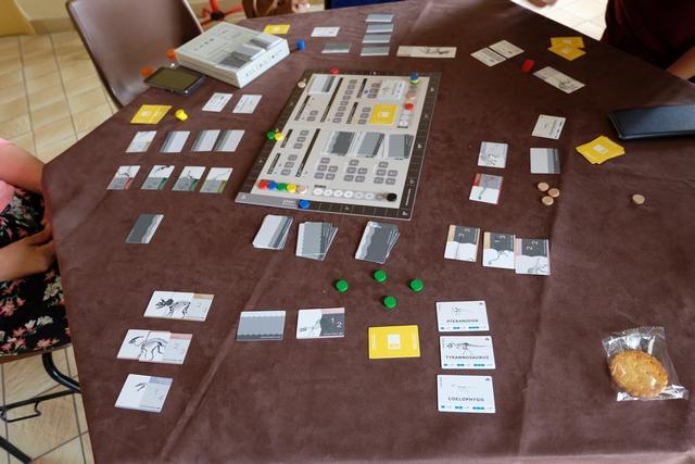 Il faut quand même une grande table pour jouer à 5 à Lagerstätten...