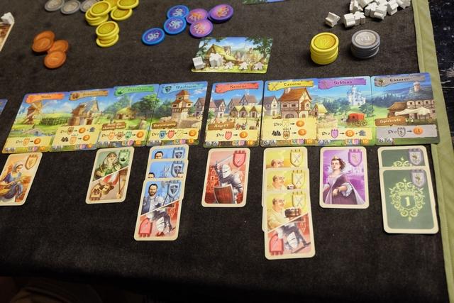 Le domaine de Fabrice, avec quand même 6 types de cartes différentes et deux majorités. Une partie correcte pour lui mais il va être un peu court...
