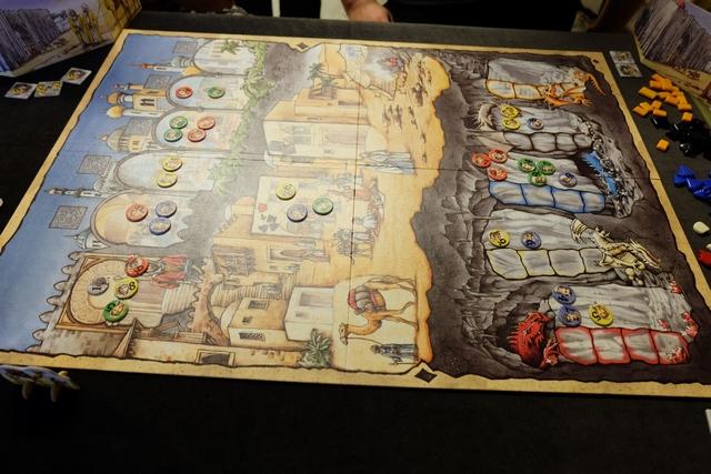 La résolution a eu lieu, pile poil comme je l'escomptais, avec une deuxième position dans la caverne du dragon bleu et l'achat, sans souci, de l'objet en haut pour 8 + 6 pierres... ;-)