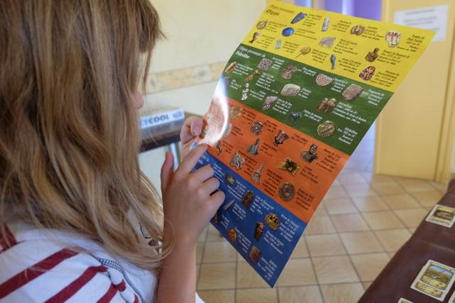 Plus la partie avance, plus Leila veut savoir quels sont tous ces magnifiques objets que nous avons amassés et elle n'arrête plus de lire la fiche annexe jointe au jeu dans la boîte...