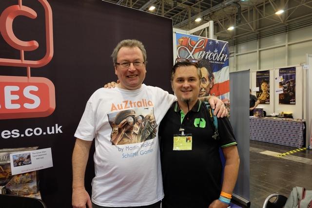Martin et moi en plein devant ! Content de ce bon moment de retrouvaille et quel joli tee-shirt Martin ! ;-)