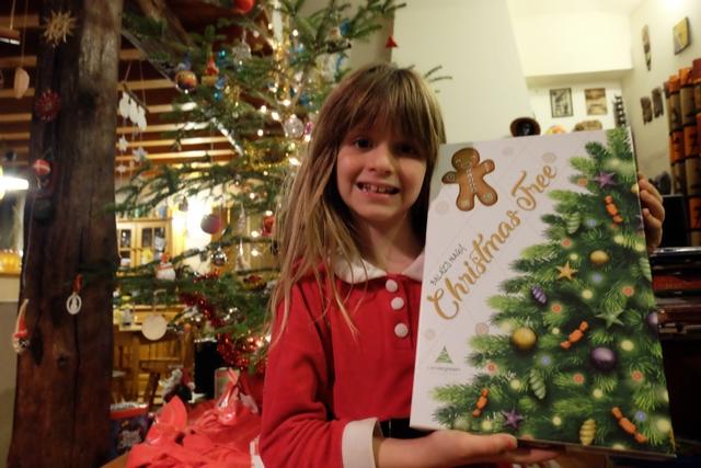 Leila n'est pas peu fière de présenter Christmas Tree devant notre Christmas Tree. Forcément... ;-)