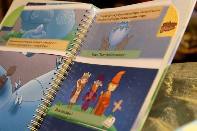 Bravo Leila ! Et, une fois le livre fini, elle me dit qu'elle va pouvoir recommencer en prenant l'un des deux autres personnages ! Bien vu, ma fille...