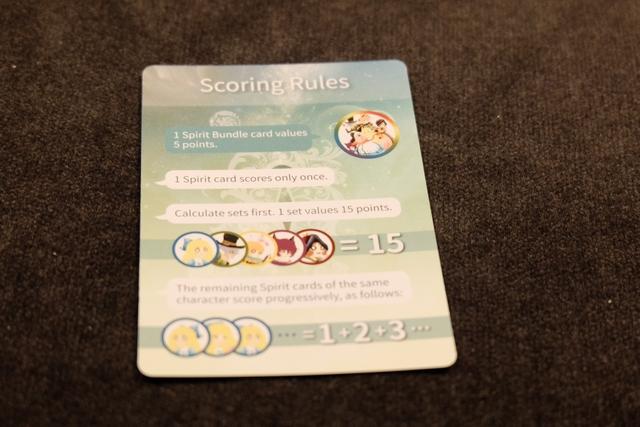 Le jeu est une sorte de Stop ou Encore dans un environnement fantastique, avec des collections de cartes à se constituer pour marquer des PV en fin de partie, comme indiqués sur la carte ci-dessus.
