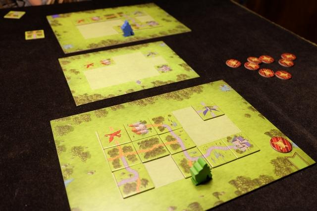 Ma solution pour le deuxième puzzle et, donc, le gain de ma deuxième médaille. A noter que Leila a réussi, exactement dans le même temps que moi, à relier ses châteaux. Elle empoche donc une médaille aussi !
