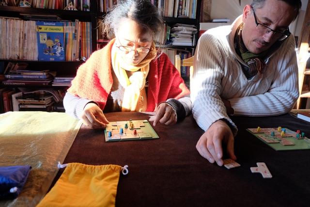 Nathalie et Yann se la jouent vraie réflexion intense ! Impressionnant...
